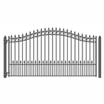 Prague Style Single Swing Steel Driveway Gate 12