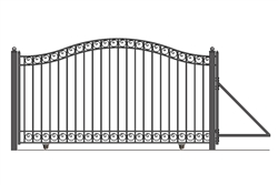 ALEKO®Dublin Style Single Slide Steel Driveway Gate 14