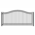 ALEKO® Dublin Style Single Swing Steel Driveway Gate 18'