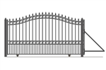 London Style Slide Steel Driveway Gate 18