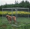 ALEKO® Dog Kennel 7 1/2' x 7 1/2' x 6' DIY Box Kennel Chain Link Dog Pet System