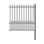 ALEKO® Munich Style DIY Iron Wrought Steel 5.5' X 5' (1.7 X 1.5 m)  High Quality Ornamental Fence