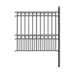 ALEKO® Paris Style DIY Iron Wrought Steel 5.5' X 5' (1.7 X 1.5 m)  High Quality Ornamental Fence