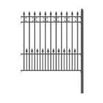 ALEKO® St. Petersburg Style DIY Iron Wrought Steel 5.5' X 5' (1.7 X 1.5 m)  High Quality Ornamental Fence