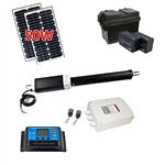 Single Swing Gate Operator - GG450 AC/DC - Solar Kit 50W - ALEKO