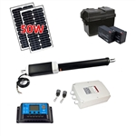 Single Swing Gate Operator - GG650 AC/DC - Solar Kit 50W - ALEKO