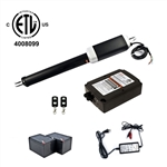Single Swing Gate Operator - ETL Listed - GG650U - Back-up Kit ACC2 - ALEKO