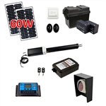 Single Swing Gate Operator - GG850 AC/DC - Solar Kit 60W - ALEKO