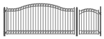 Set of ALEKO® DUBLIN Style Steel Swing Single Driveway 14 ft with Pedestrian Gate 4 ft