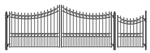 Moscow Swing Dual Steel Driveway with Pedestrian Gate