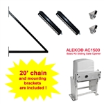 ALEKO® Set of Sliding Gate Hardware Kit with Gate Opener