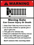 "ALEKO® WARNING Moving Gate Plastic Sign 8"" x 10.5"""