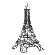 Eiffel Tower Black Metal Candle Holder