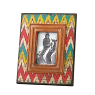 Ikat Chevron Wood Photo Frame 4x6