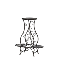 Hourglass Triple Plant Stand Metal