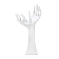 White Helping Hands Jewelry Tree Stand