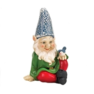Cheery Gnome Solar Lightup Statue