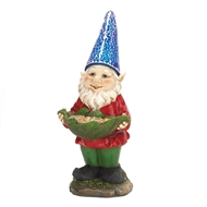 Bird Feeder Gnome Solar Lightup Statue