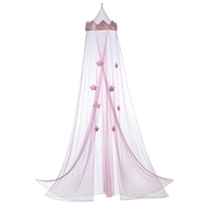 Pink Princess Polyester Bed Canopy