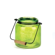 Green Glass Candle Jar Lantern