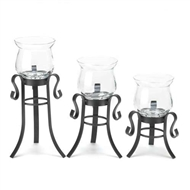 Allure Candle Holders w/Stands Set of 3