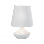 White Pebble Beach Ceramic Table Lamp