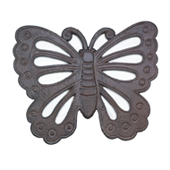 Butterfly Cast Iron Stepping Stone Plaque