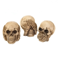 See Hear Speak No Evil Skulls Trio