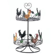 2-Tier Rooster Countertop Basket