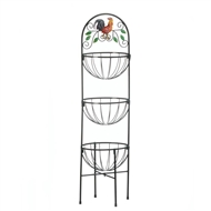 3-Tier Rooster Countertop Basket