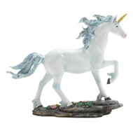 White Unicorn w/Blue Mane Unicorn Figurine