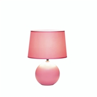 Pink Round Base Ceramic Table Lamp