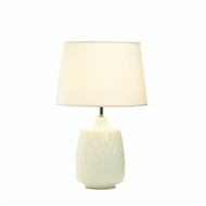 Quilted Diamonds Ceramic Table Lamp