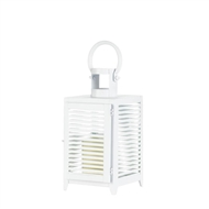 White Horizon Metal Candle Lantern