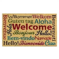 Multi-Lingual Welcome Entry Mat