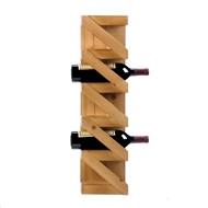 Zig-Zag 5-Bottle Wooden Wine Wall Rack