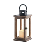 Lodge Wooden LED Candle Lantern