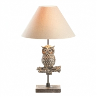 Owl on Branch Table Lamp