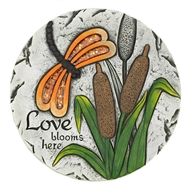 Love Blooms Here Butterfly Garden Stepping Stone
