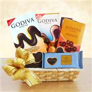 A Gift of Godiva Chocolate Basket