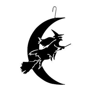 Witch-Moon Black Metal Hanging Silhouette