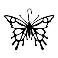 Butterfly Black Metal Hanging Silhouette