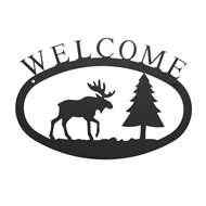 Moose & Pine Black Metal Welcome Sign Small