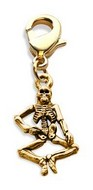 Skeleton Charm Dangle in Gold