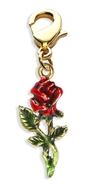 Rose Charm Dangle in Silver