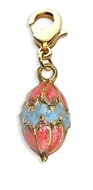 Easter Egg Charm Dangle in Gold