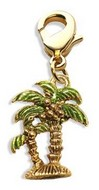 Palm Trees Charm Dangle in Gold