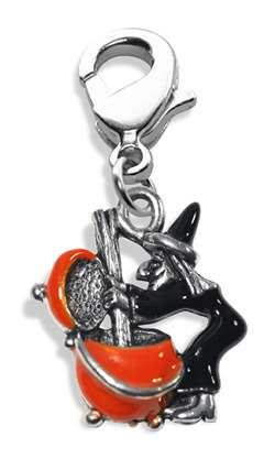 Witch Charm Dangle in Silver