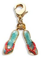 Flip Flops Charm Dangle in Gold