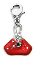 French Purse Charm Dangle in Silver